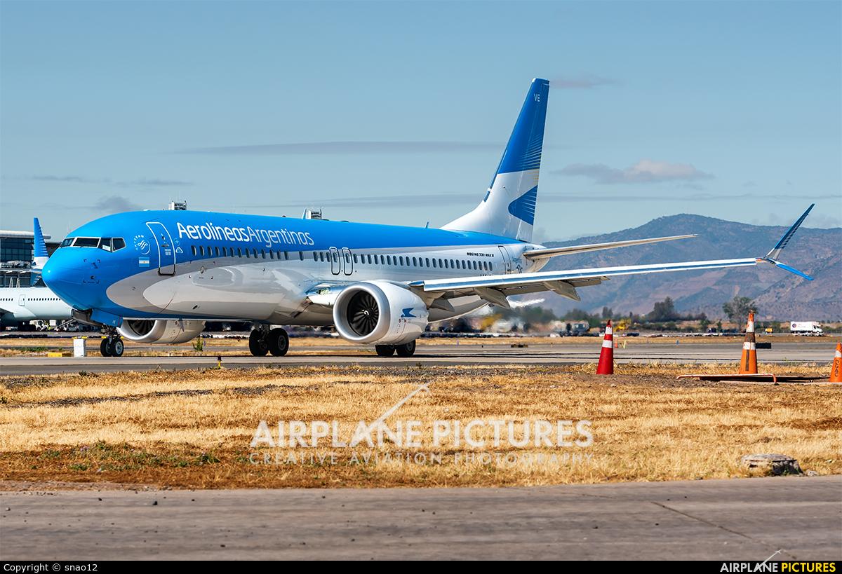 Aerolineas Argentinas LV-GVE aircraft at Santiago de Chile - Arturo Merino Benítez Intl