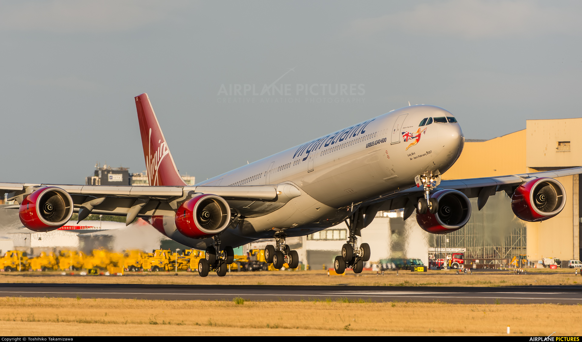 Virgin Atlantic G-VBUG aircraft at London - Heathrow