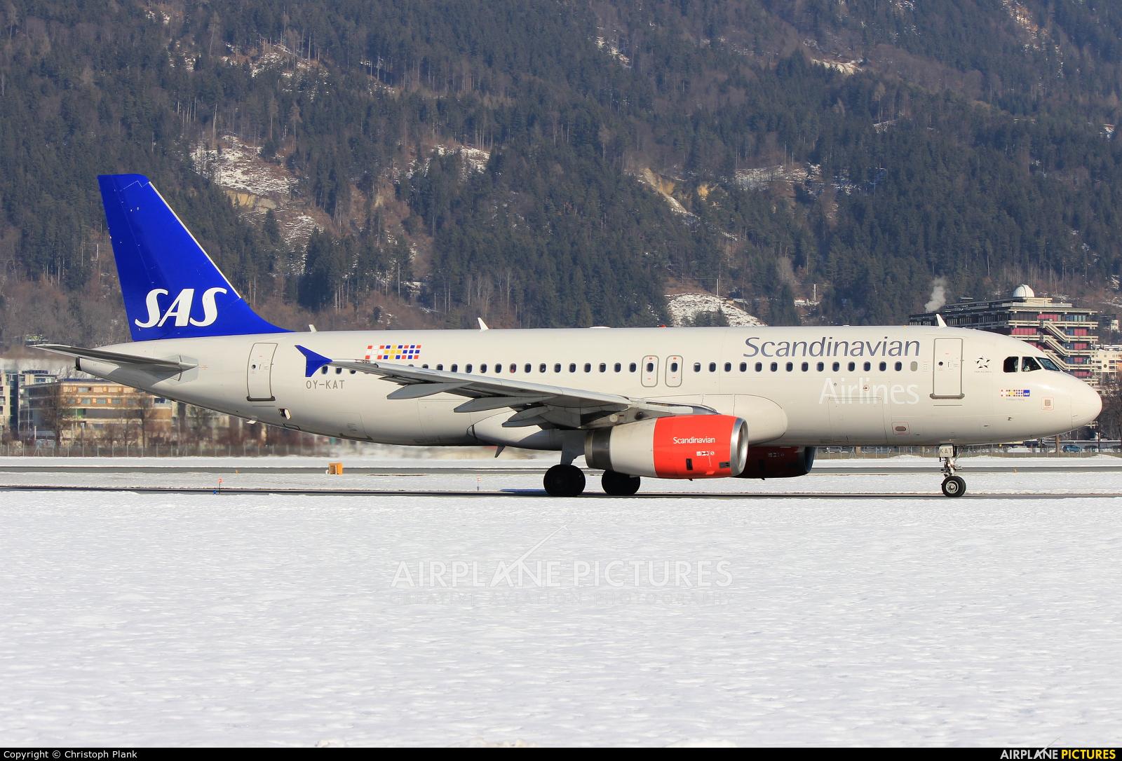 SAS - Scandinavian Airlines OY-KAT aircraft at Innsbruck