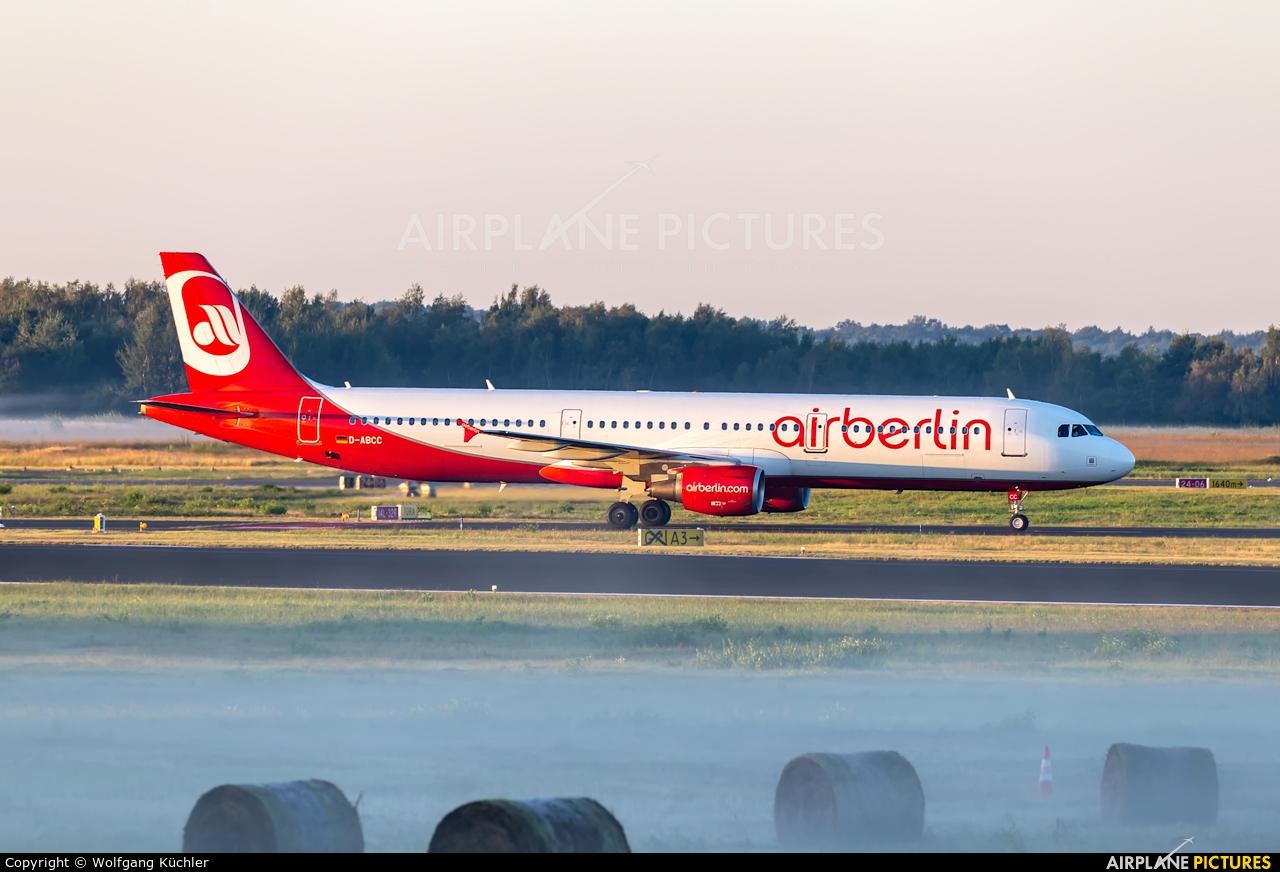 Air Berlin D-ABCC aircraft at Cologne Bonn - Konrad Adenauer