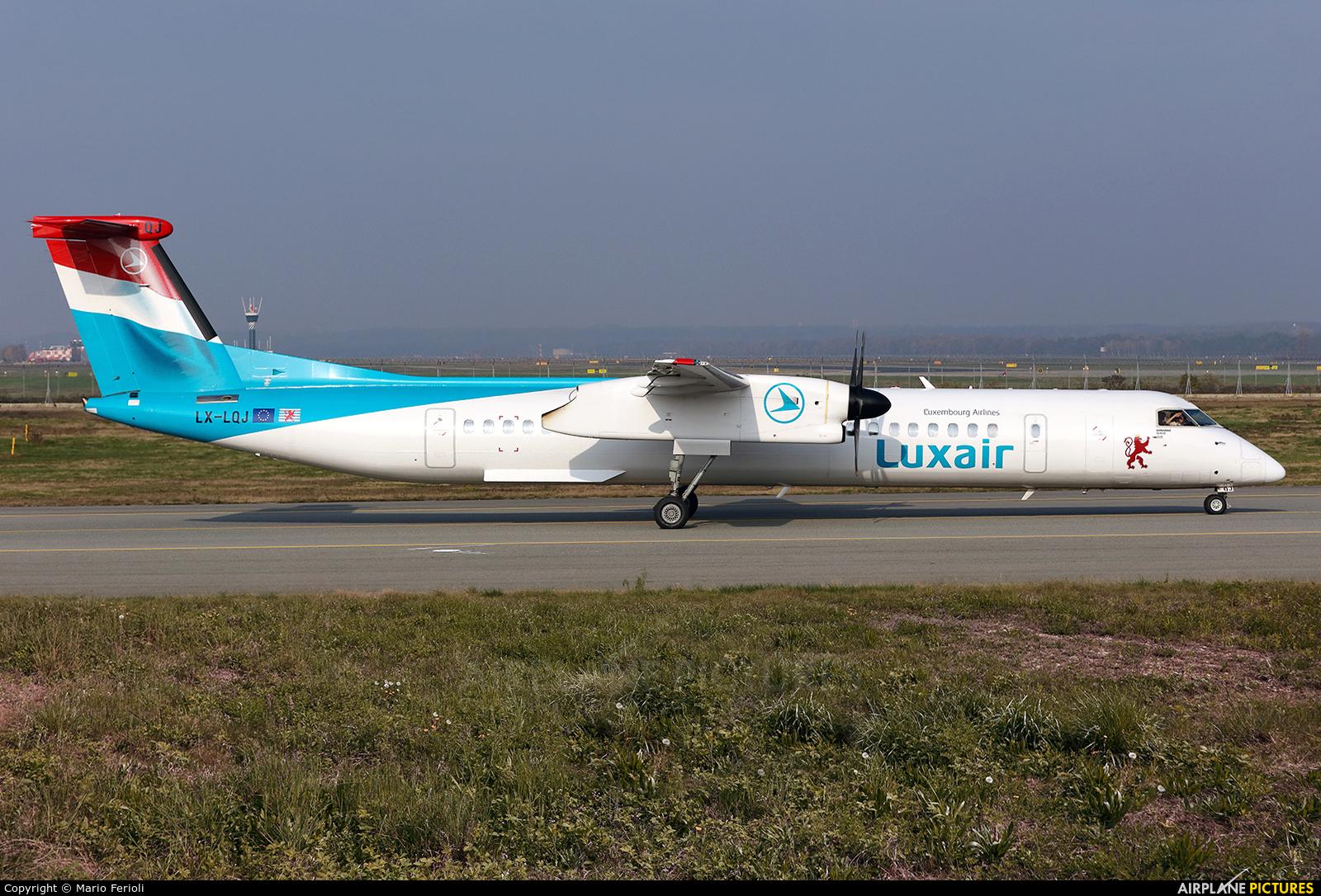 Luxair LX-LQJ aircraft at Milan - Malpensa
