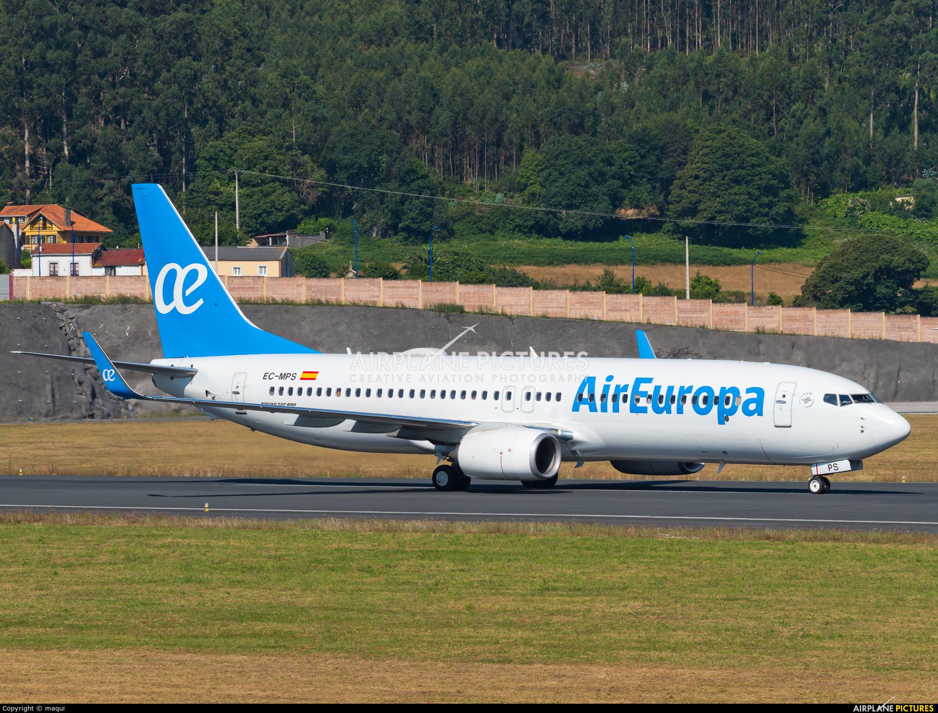 Air Europa EC-MPS aircraft at La Coruña