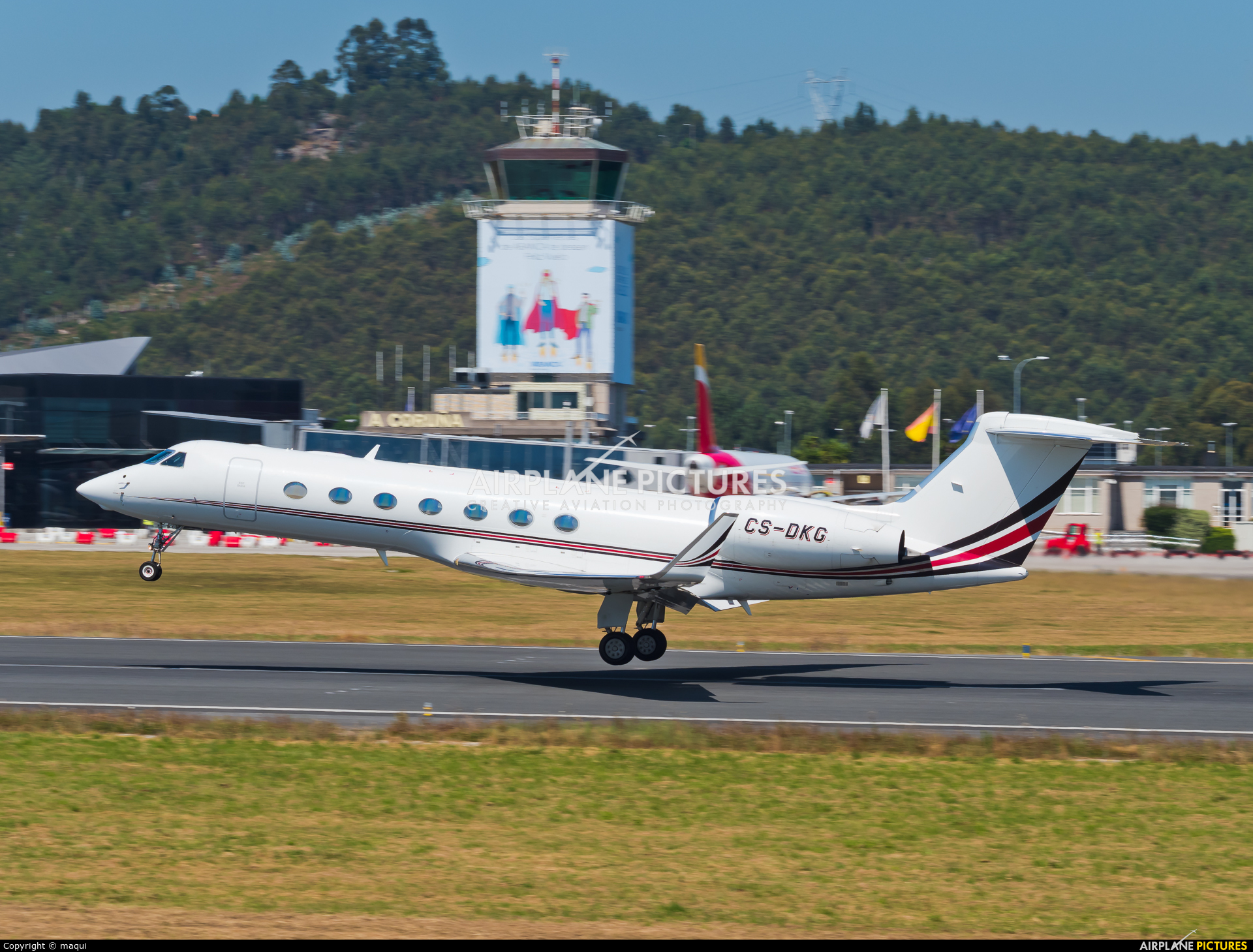 NetJets Europe (Portugal) CS-DKG aircraft at La Coruña