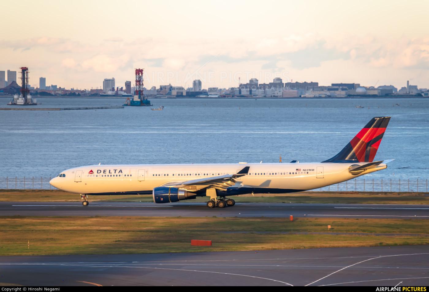 Delta Air Lines N831NW aircraft at Tokyo - Haneda Intl
