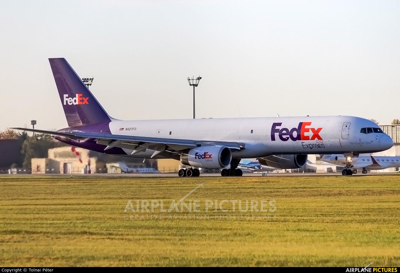 FedEx Federal Express N927FD aircraft at Budapest Ferenc Liszt International Airport