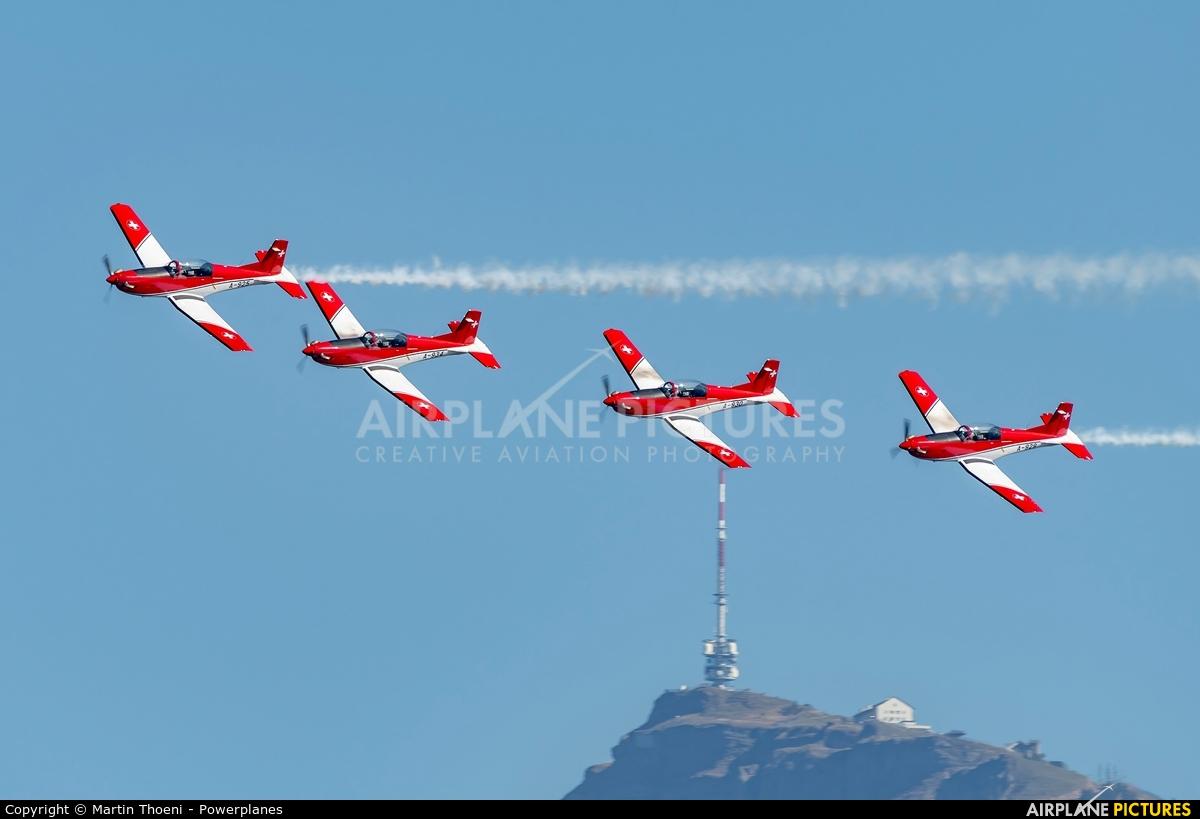 Switzerland - Air Force: PC-7 Team A-925 aircraft at Lucerne - Swiss Transport Museum