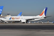 Rare visit of FlyEgypt B738 to Madrid title=