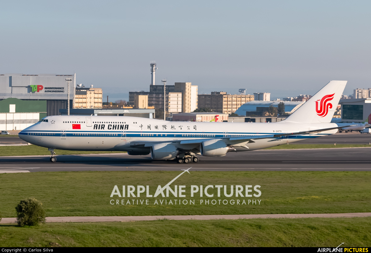 Air China B-2479 aircraft at Lisbon