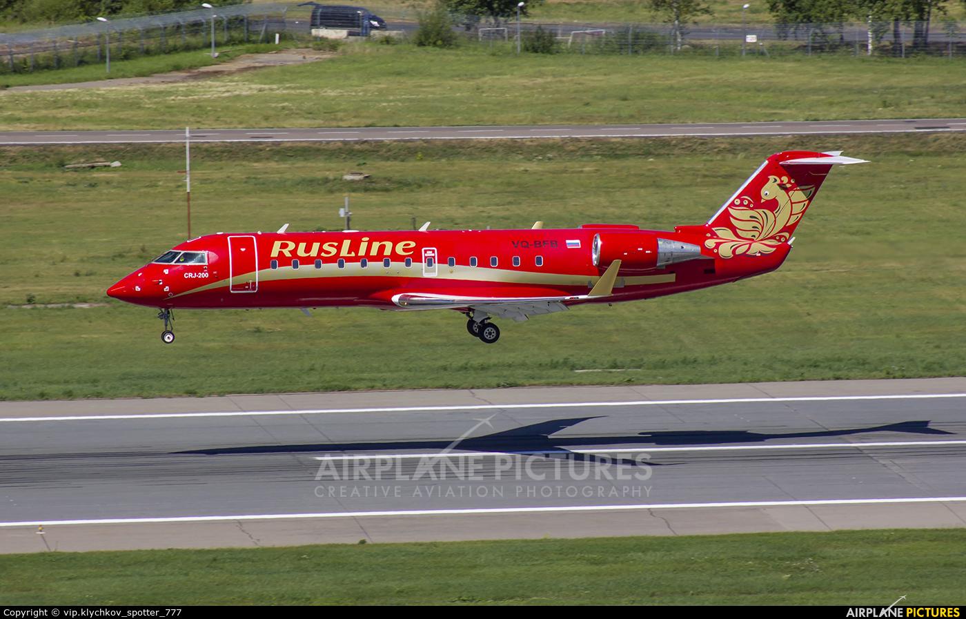 Rusline VQ-BFB aircraft at Moscow - Vnukovo