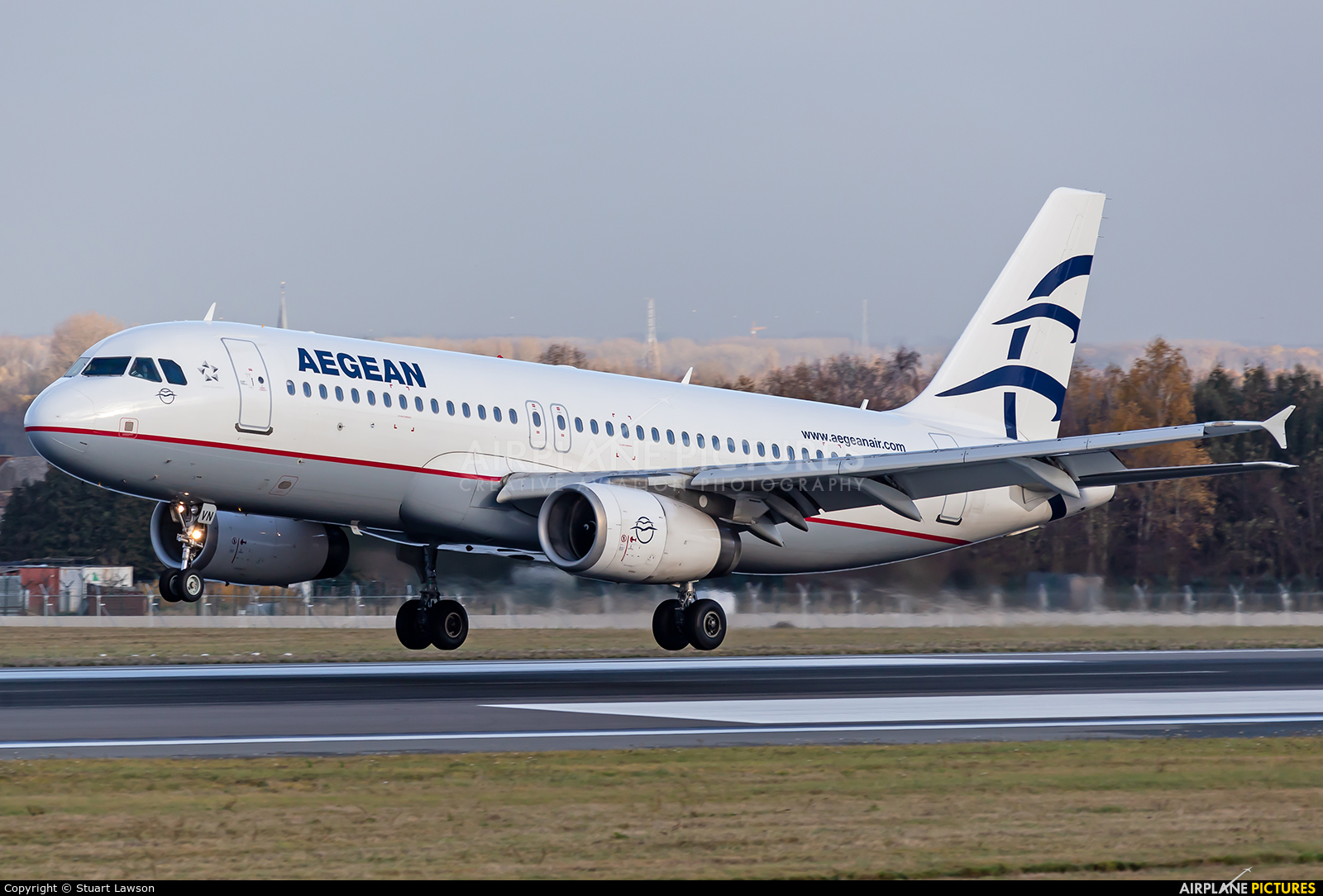Aegean Airlines SX-DVN aircraft at Brussels - Zaventem