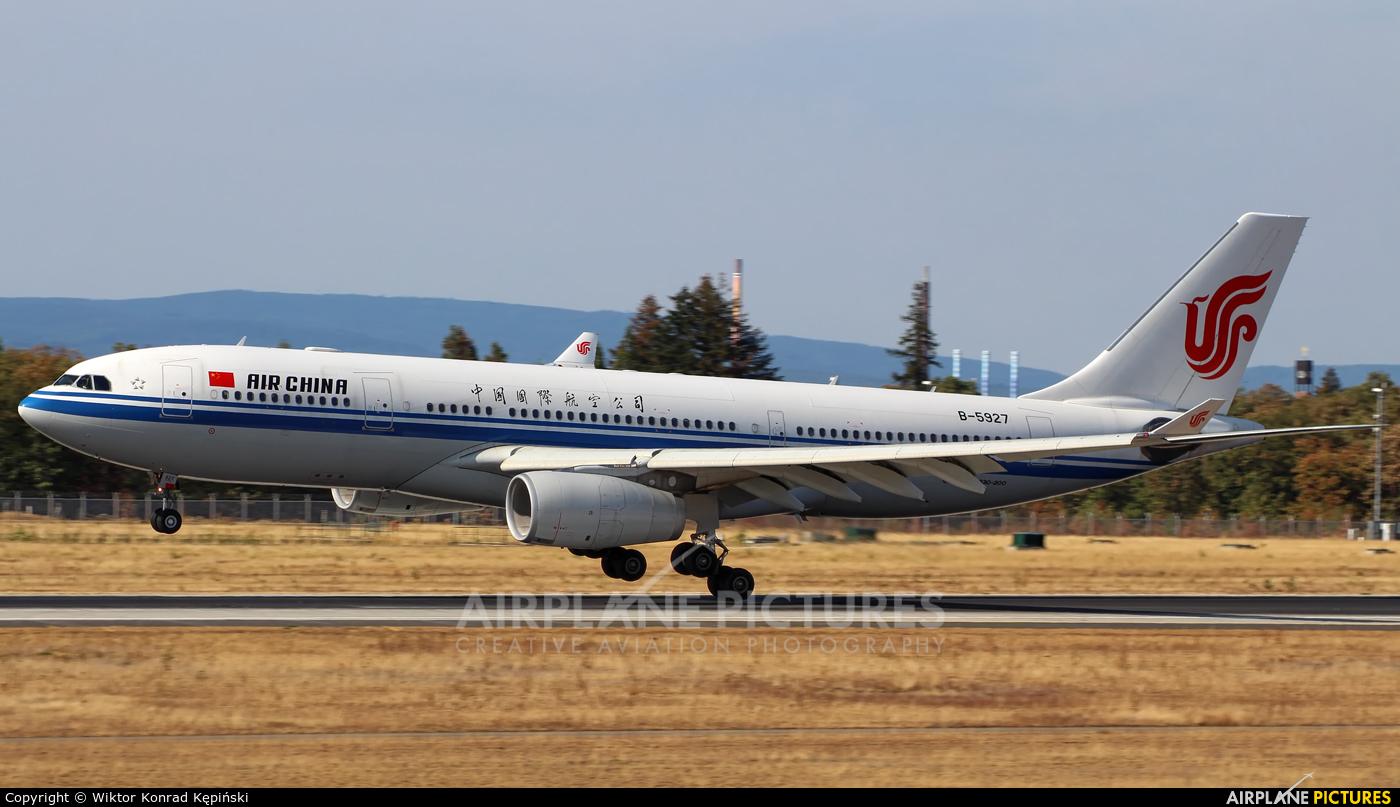 Air China B-5925 aircraft at Frankfurt