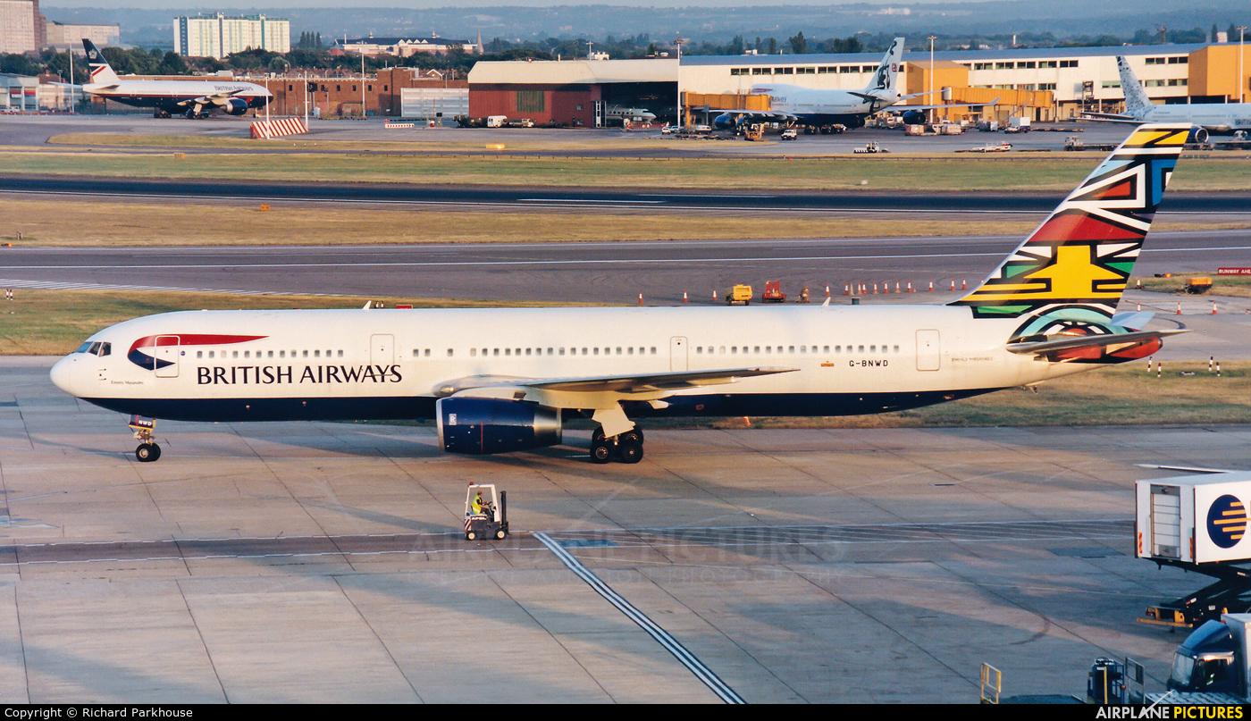 British Airways G-BNWD aircraft at London - Heathrow