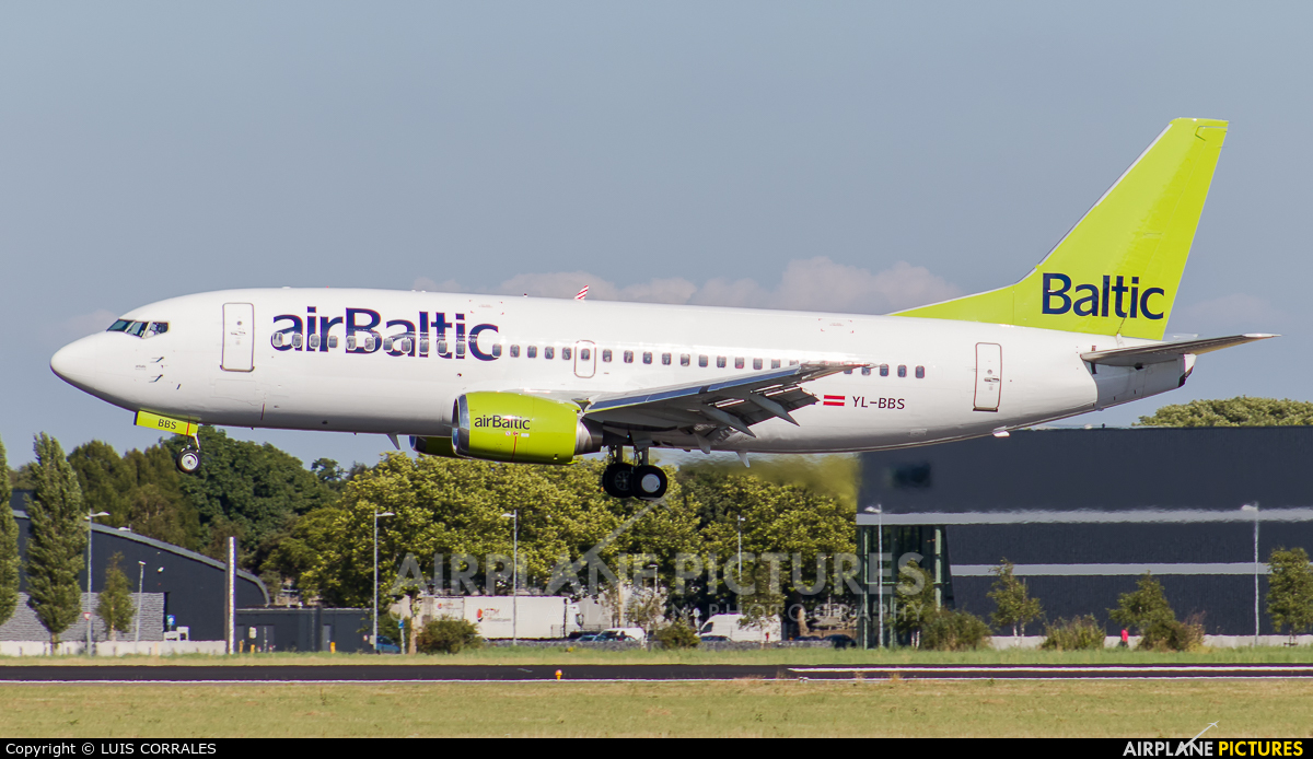 Air Baltic YL-BBS aircraft at Amsterdam - Schiphol