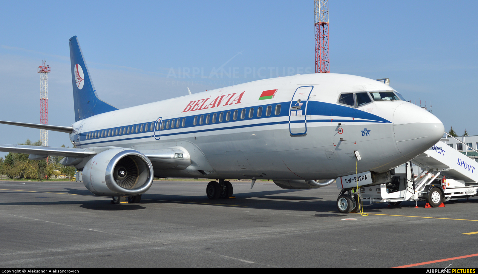Belavia EW-282PA aircraft at Brest Airport