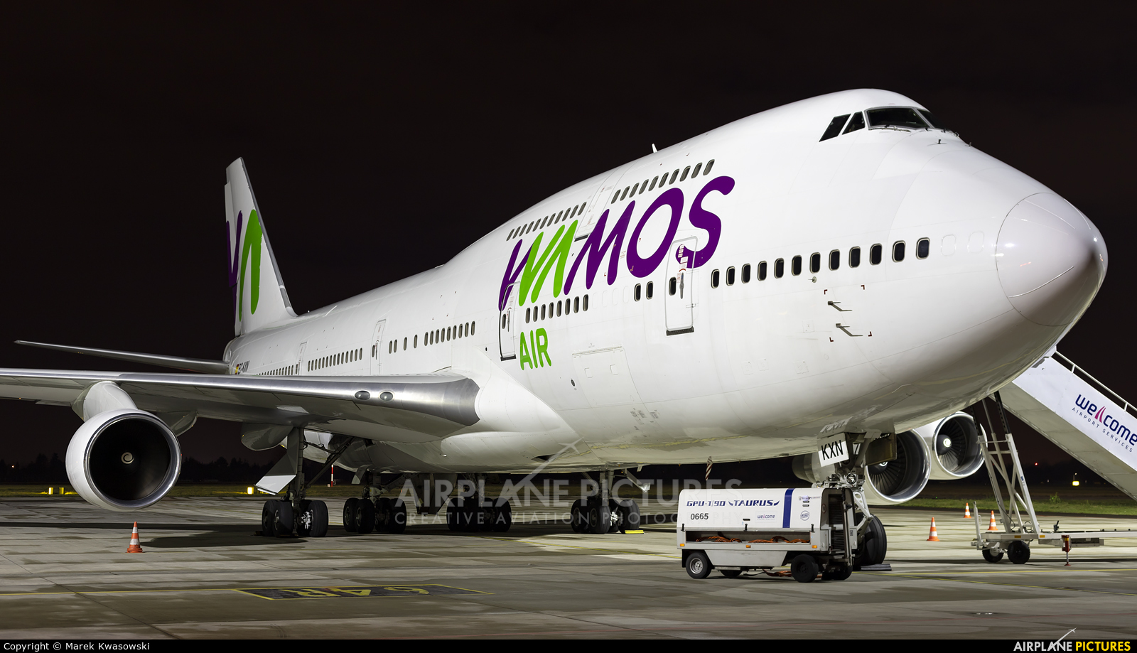 Wamos Air EC-KXN aircraft at Warsaw - Frederic Chopin