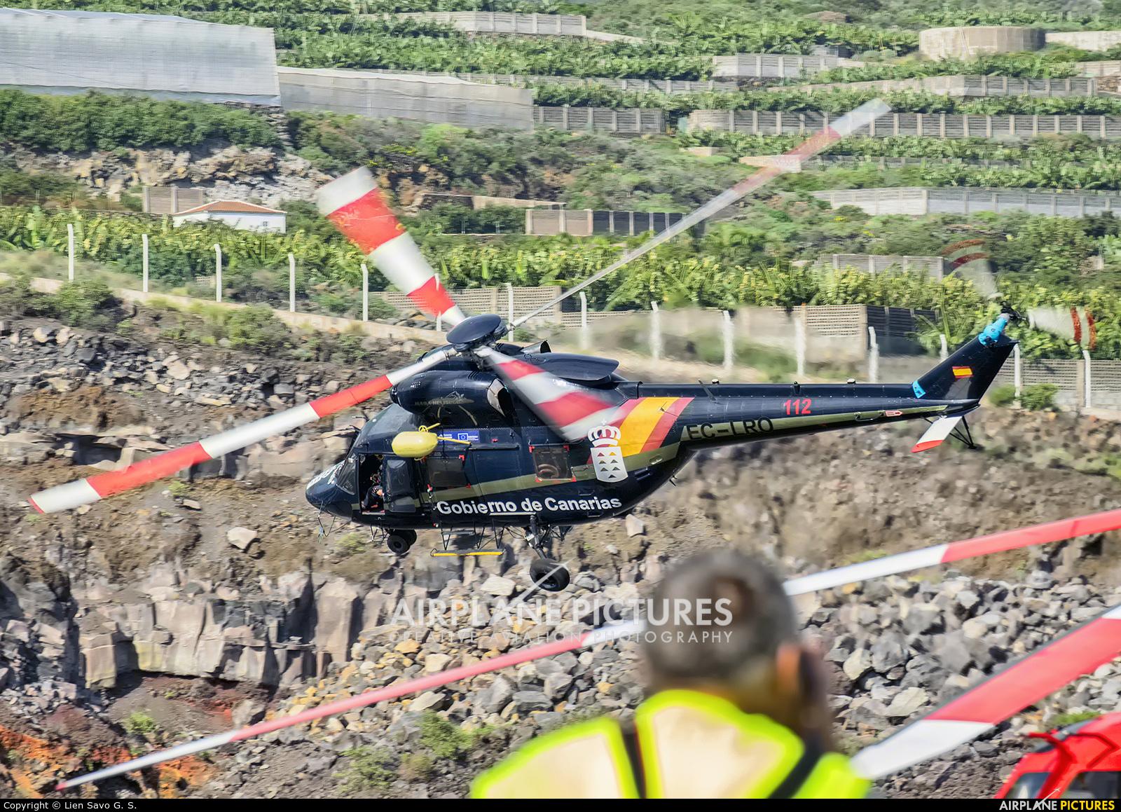 Hispanica de Aviacion EC-LRO aircraft at Santa Cruz de La Palma