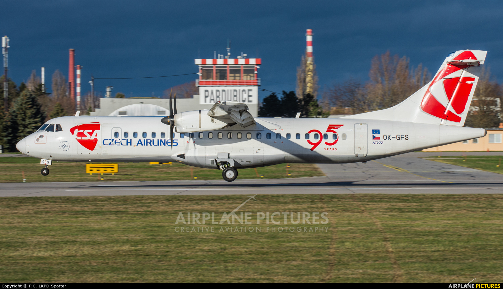 CSA - Czech Airlines OK-GFS aircraft at Pardubice