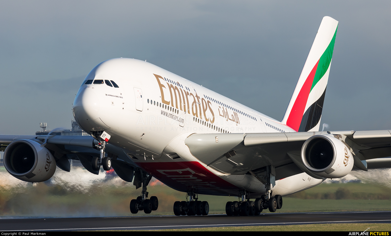 Emirates Airlines A6-EOT aircraft at Manchester