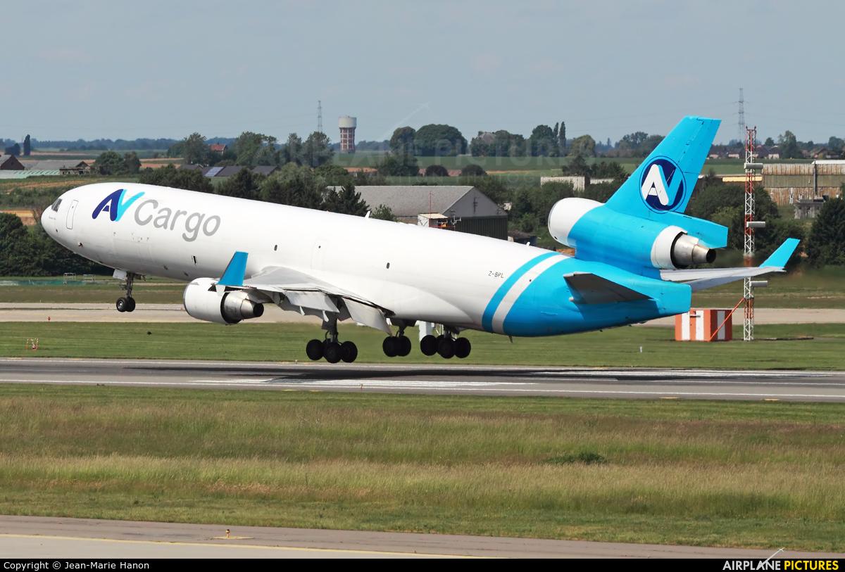 AV Cargo Z-BPL aircraft at Liège-Bierset