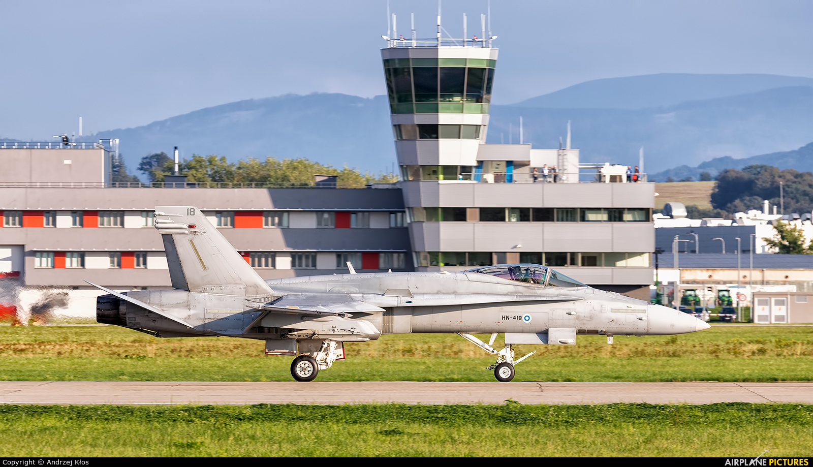 Finland - Air Force HN-418 aircraft at Ostrava Mošnov
