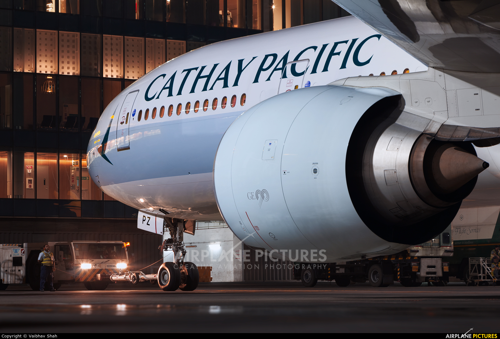 Cathay Pacific B-KPZ aircraft at Mumbai - Chhatrapati Shivaji Intl