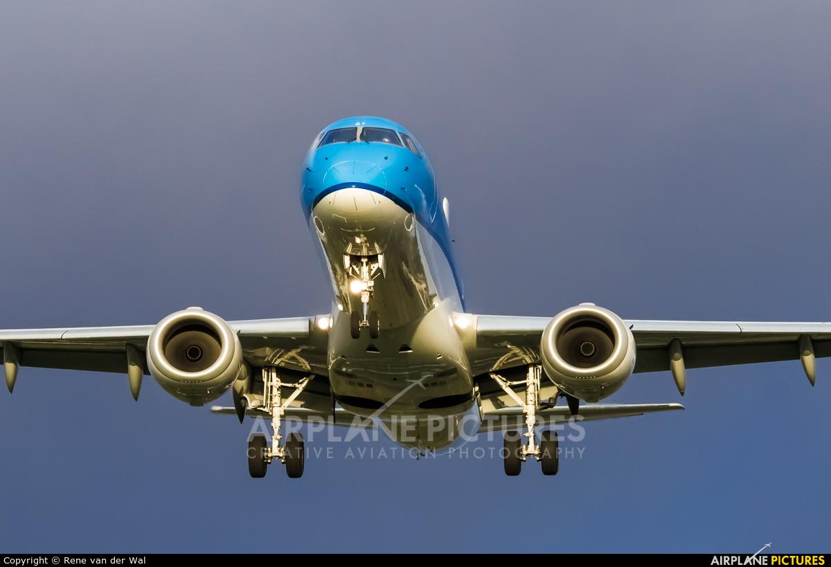 KLM Cityhopper PH-EZT aircraft at Amsterdam - Schiphol