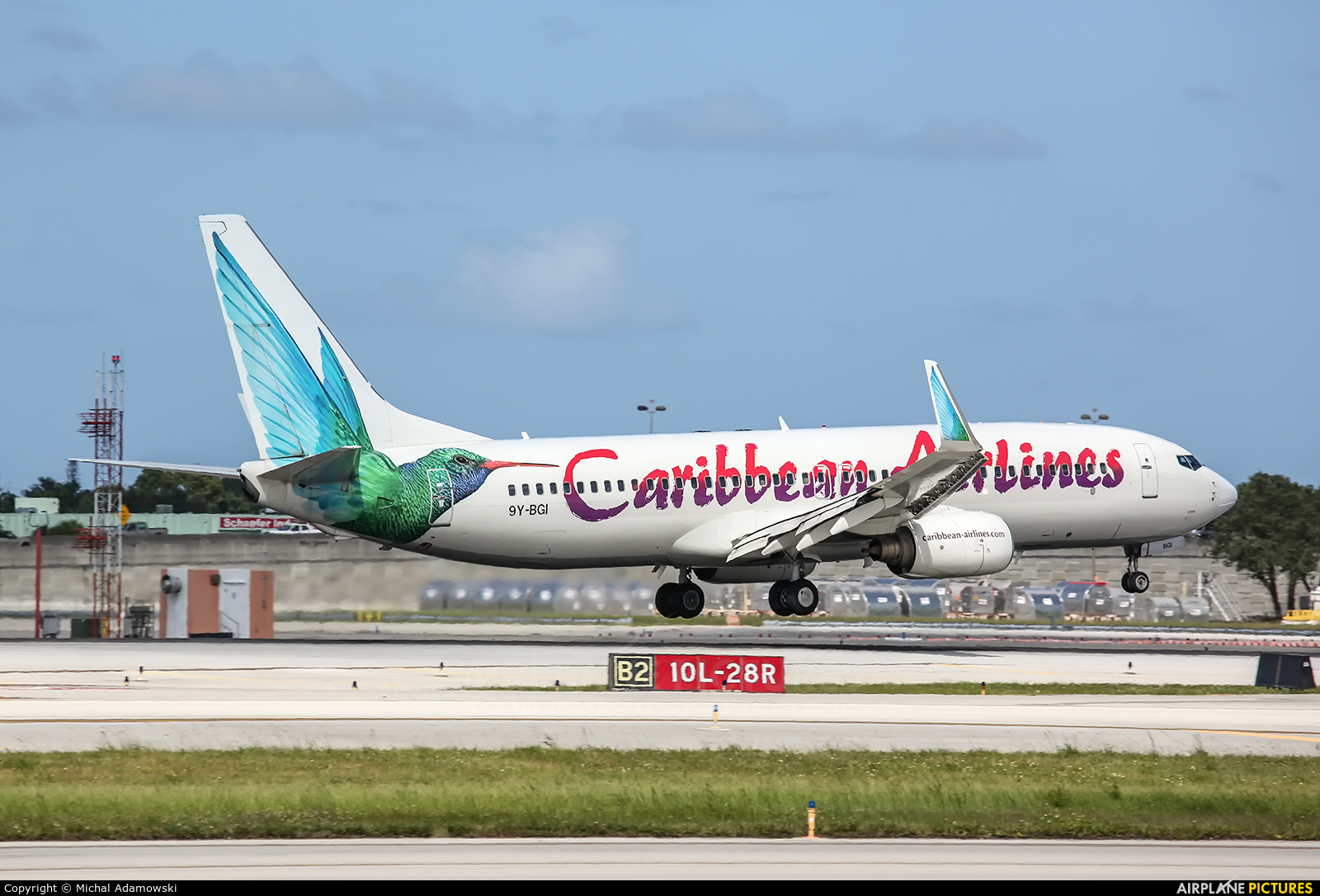Caribbean Airlines  9Y-BGI aircraft at Fort Lauderdale - Hollywood Intl