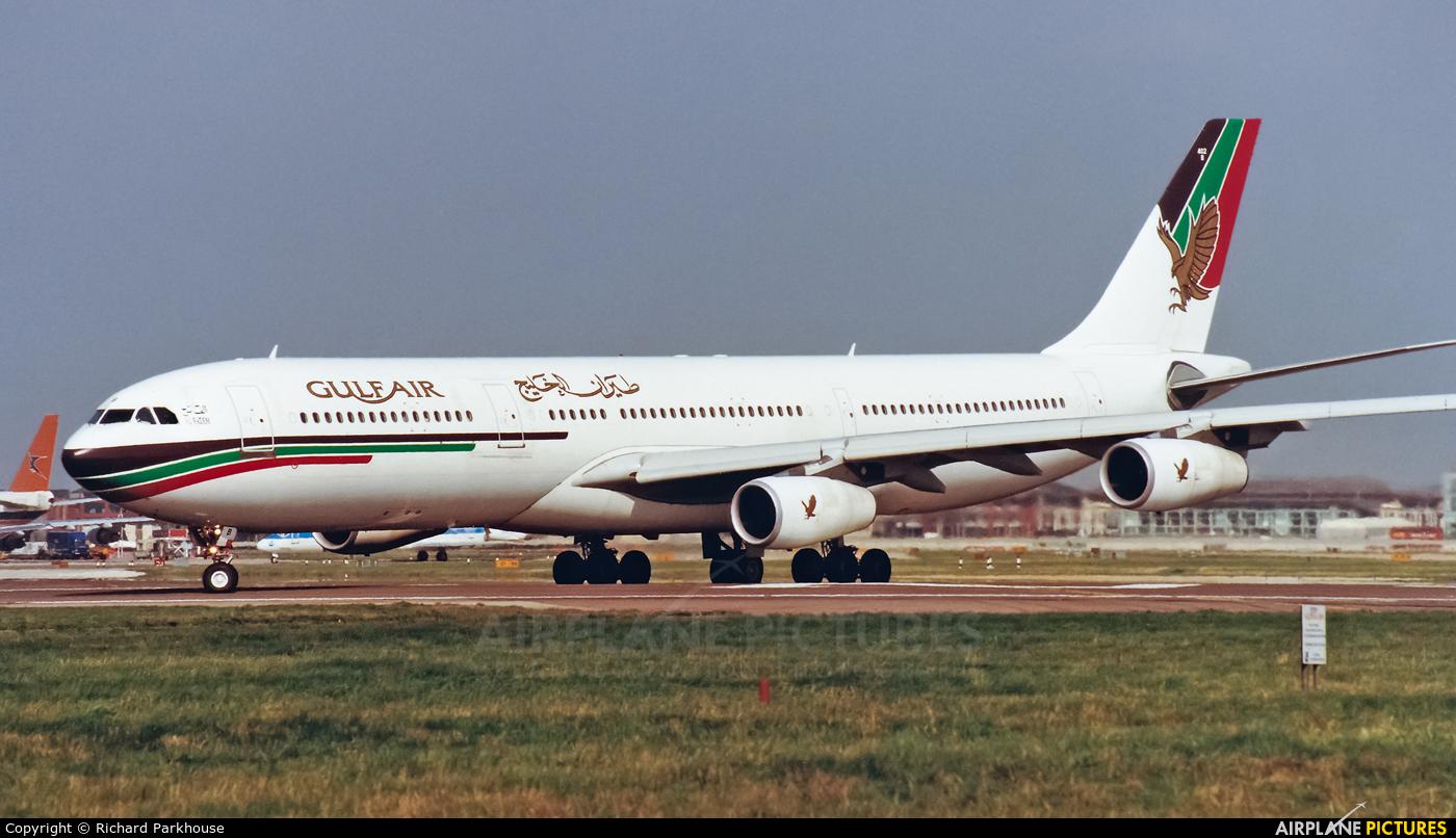 Gulf Air A40-LB aircraft at London - Heathrow