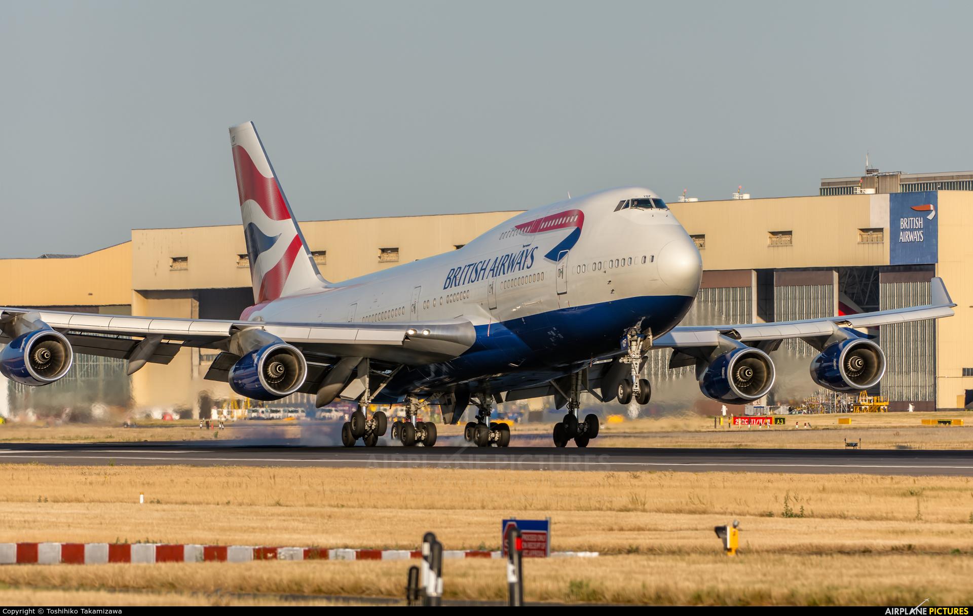 British Airways G-BYGF aircraft at London - Heathrow