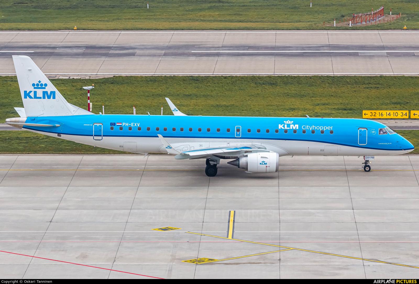 KLM Cityhopper PH-EXV aircraft at Zurich