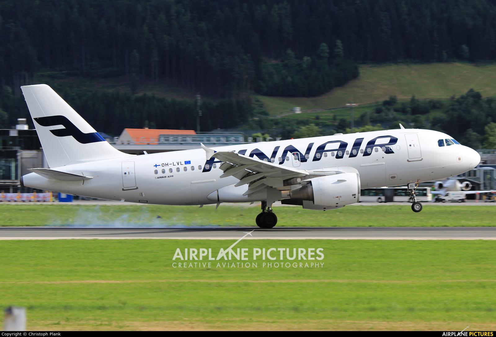 Finnair OH-LVL aircraft at Innsbruck