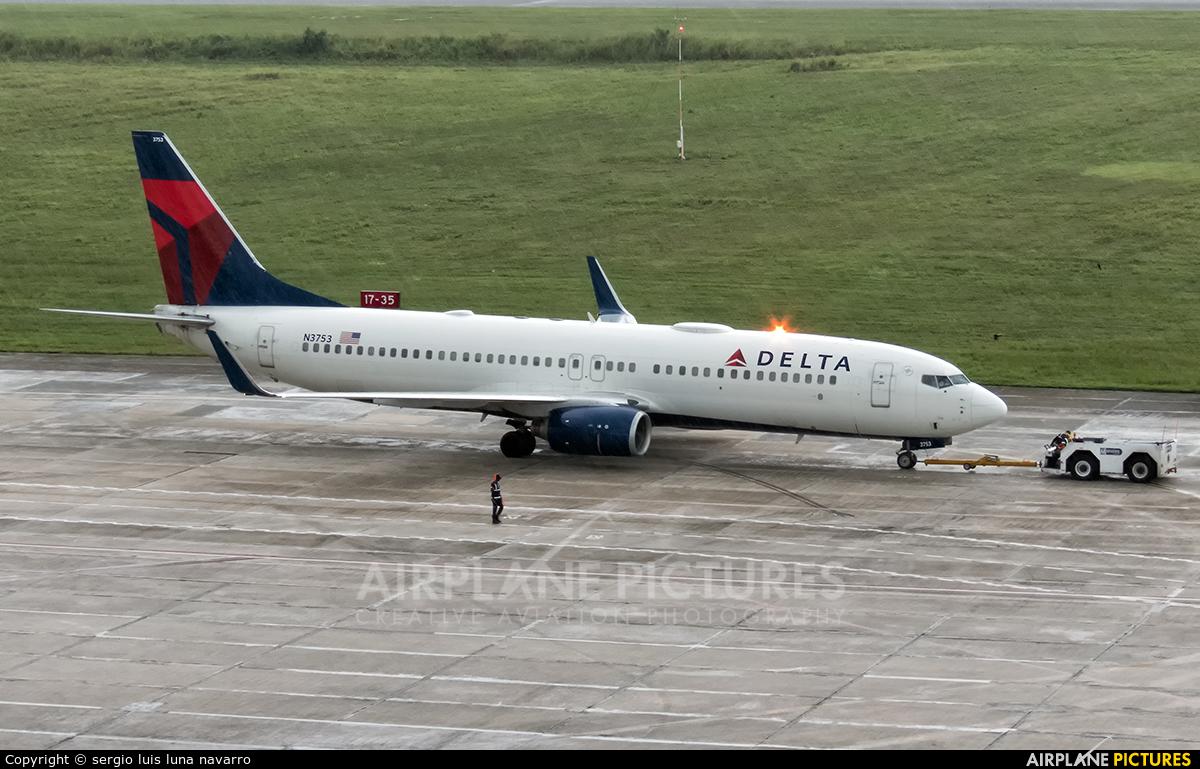 Delta Air Lines N3753 aircraft at Santo Domingo - Aeropuerto de las Americas
