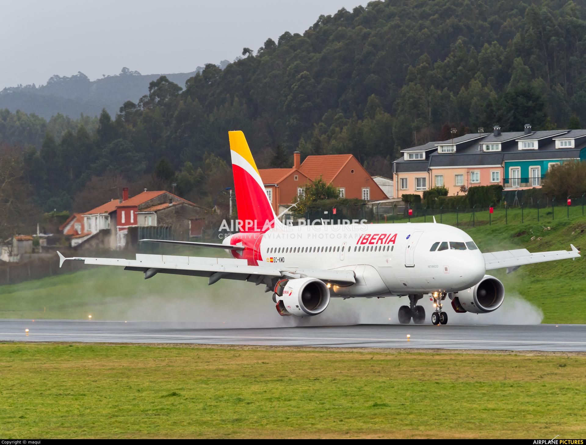 Iberia EC-KMD aircraft at La Coruña