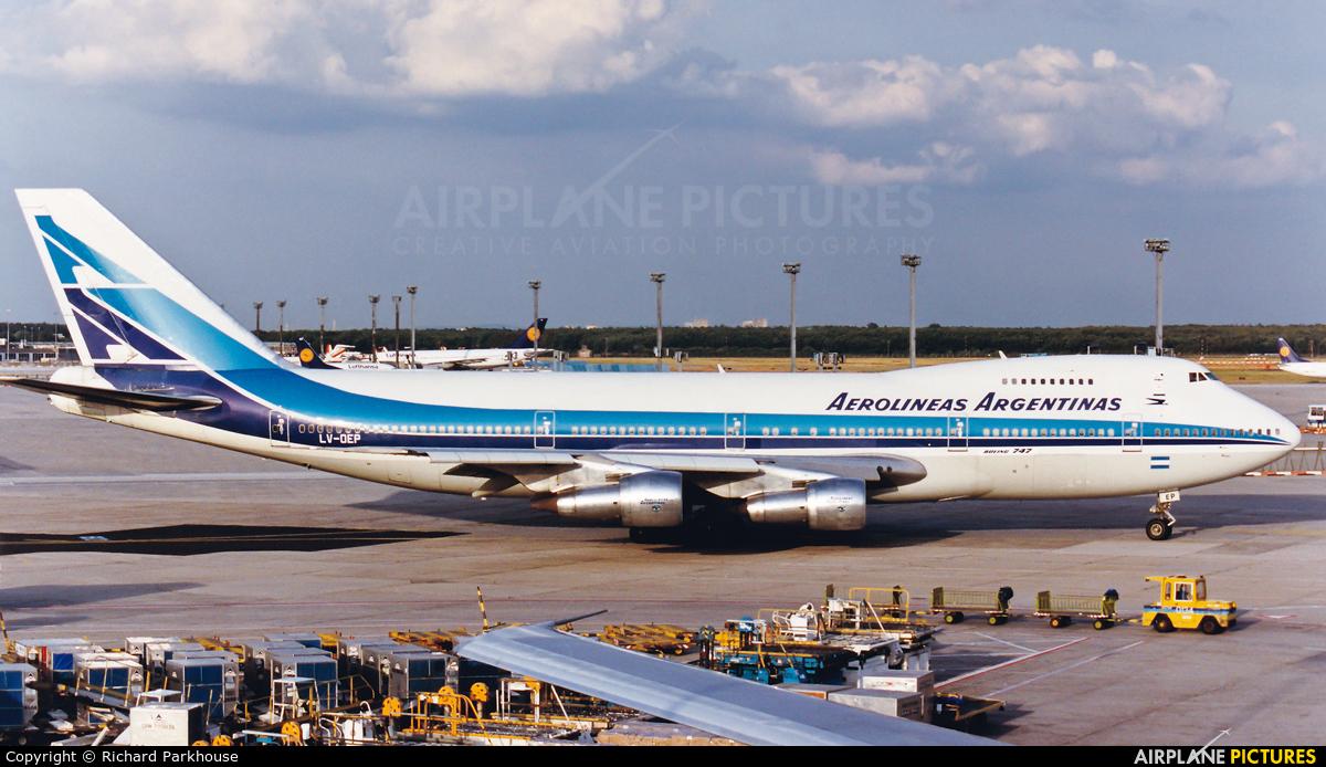 Aerolineas Argentinas LV-OEP aircraft at Frankfurt