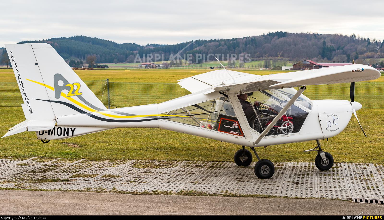 Private D-MONY aircraft at Schwabmünchen