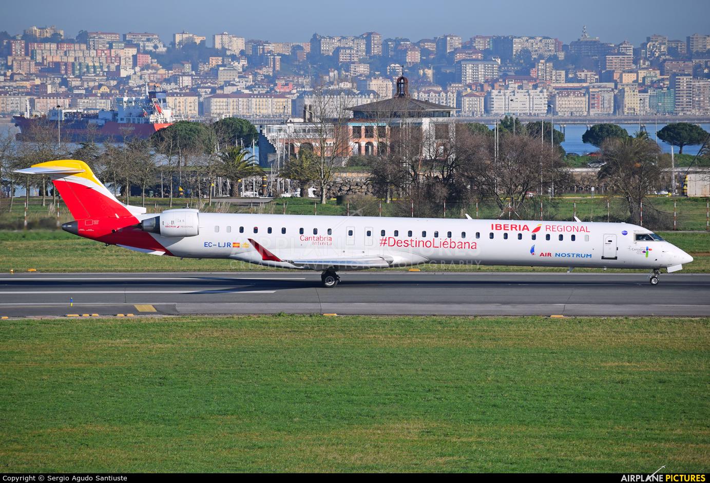 Air Nostrum - Iberia Regional EC-LJR aircraft at Santander