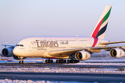 A6-EUC - Emirates Airlines Airbus A380 aircraft