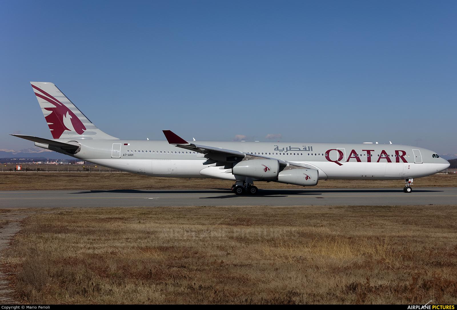 Qatar Amiri Flight A7-AAH aircraft at Milan - Malpensa