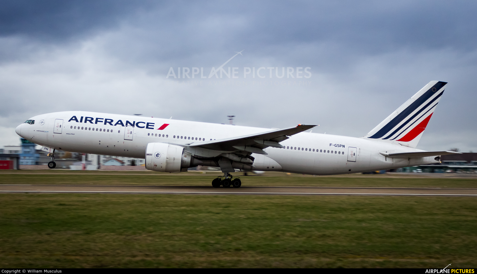Air France F-GSPN aircraft at Strasbourg-Entzheim