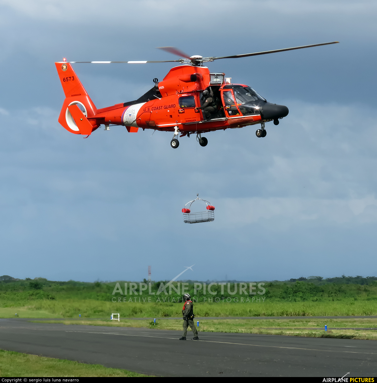 USA - Coast Guard 6573 aircraft at Off Airport - Dominican Republic