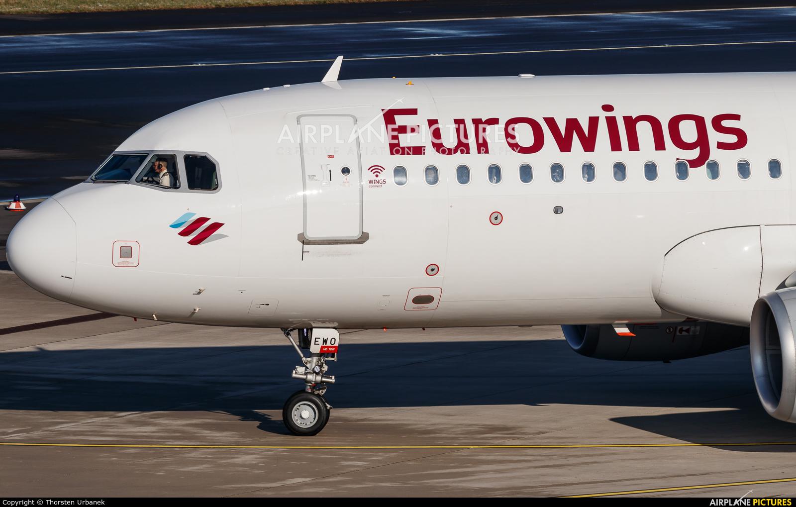 Eurowings D-AEWO aircraft at Düsseldorf