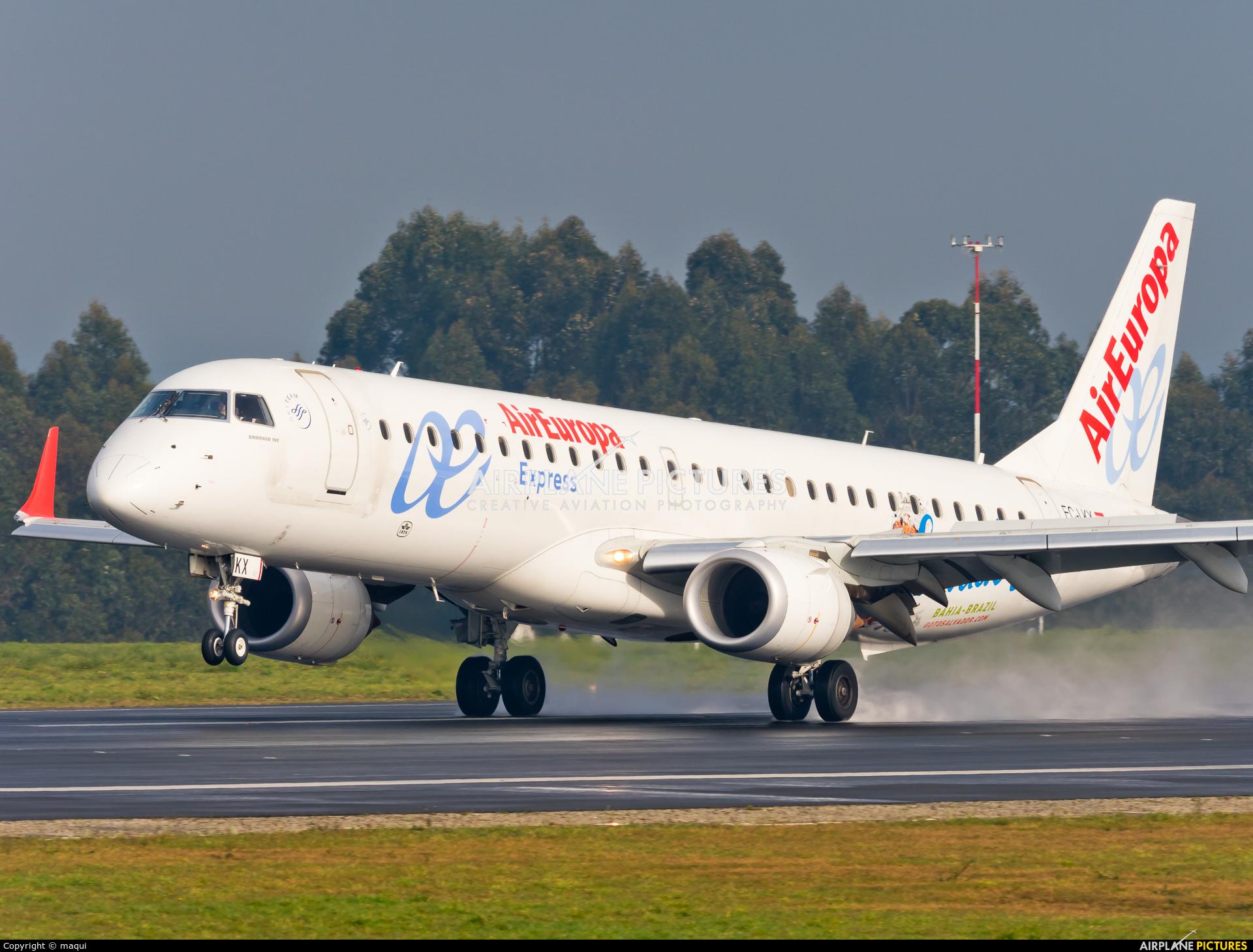 Air Europa EC-LKX aircraft at La Coruña