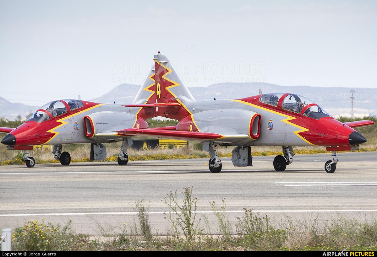 Spain - Air Force : Patrulla Aguila E.25-12 aircraft at Murcia - San Javier