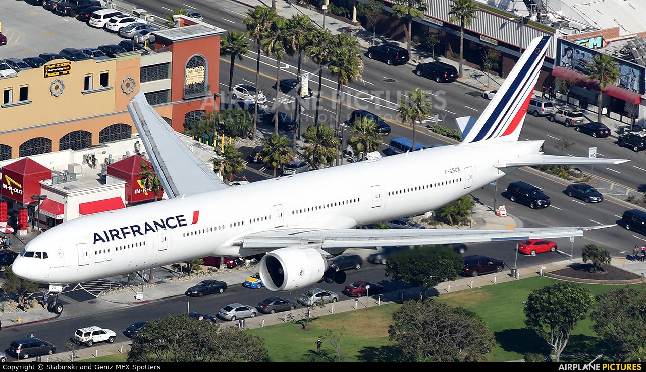 Air France F-GSQK aircraft at Los Angeles Intl