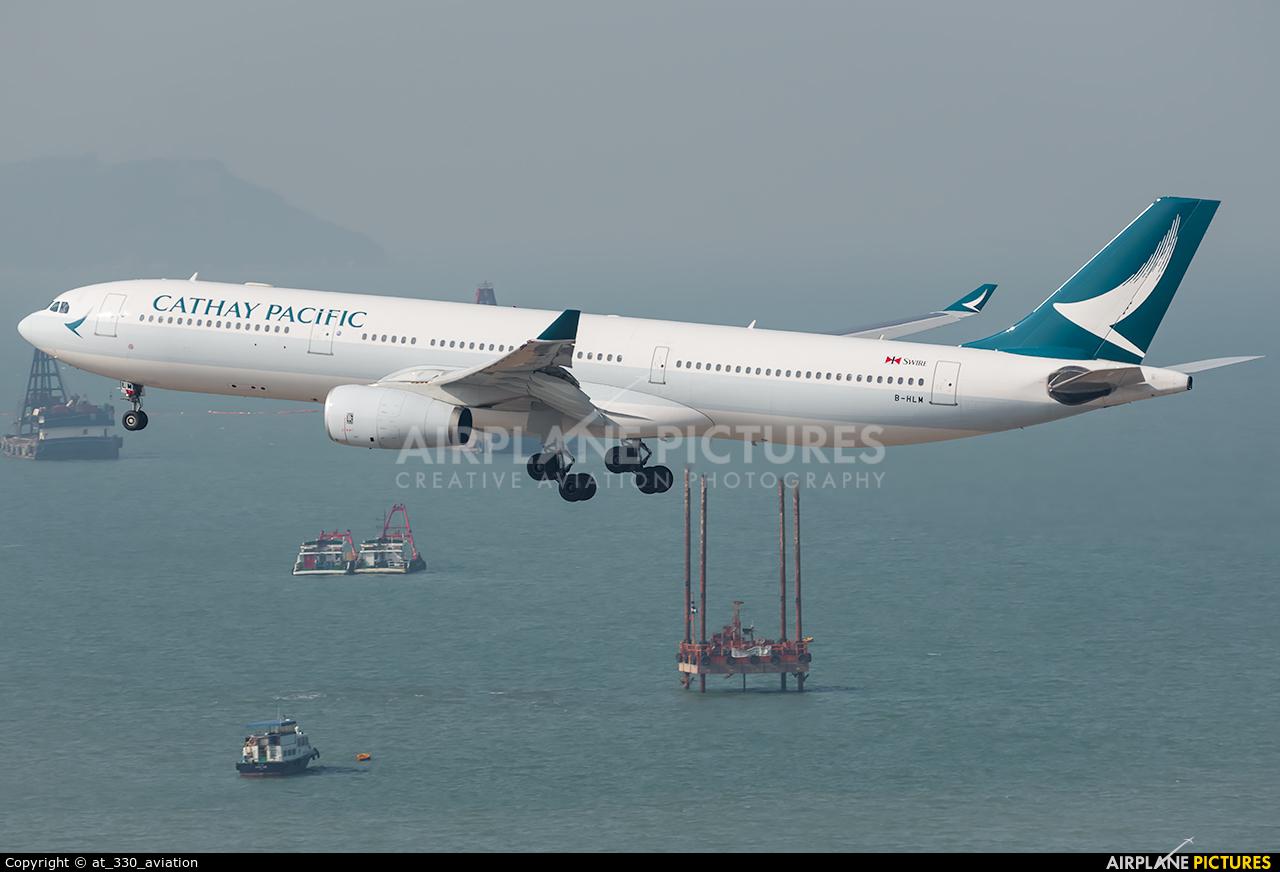 Cathay Pacific B-HLM aircraft at HKG - Chek Lap Kok Intl