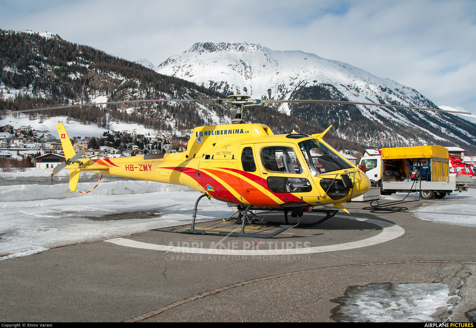 Heli Bernina HB-ZMY aircraft at Samedan - Engadin