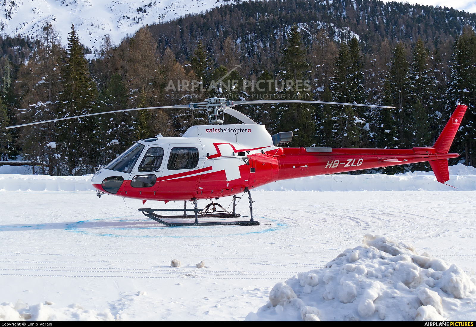 Swiss Helicopter HB-ZLG aircraft at Samedan - Engadin