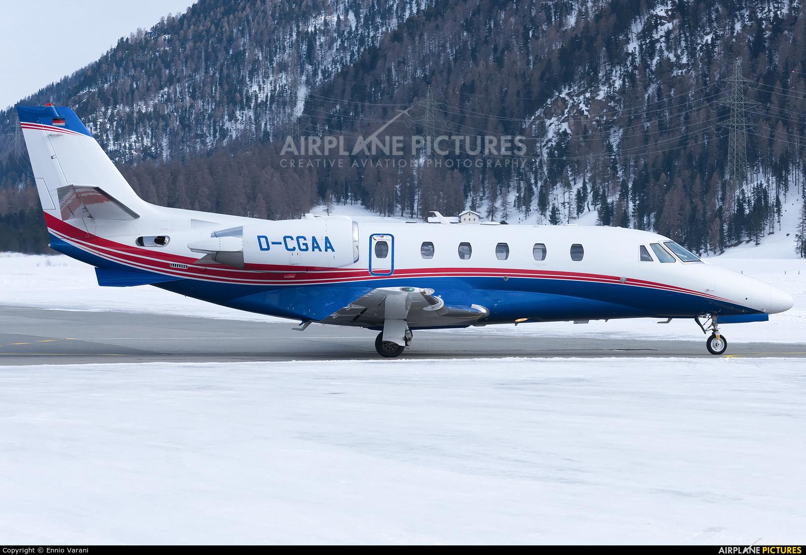 Air Hamburg D-CGAA aircraft at Samedan - Engadin