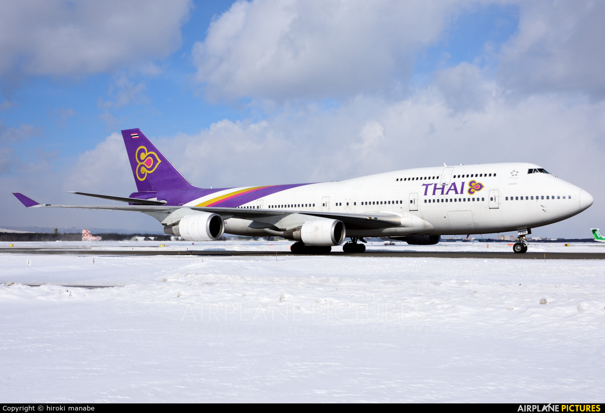 Thai Airways HS-TGO aircraft at New Chitose