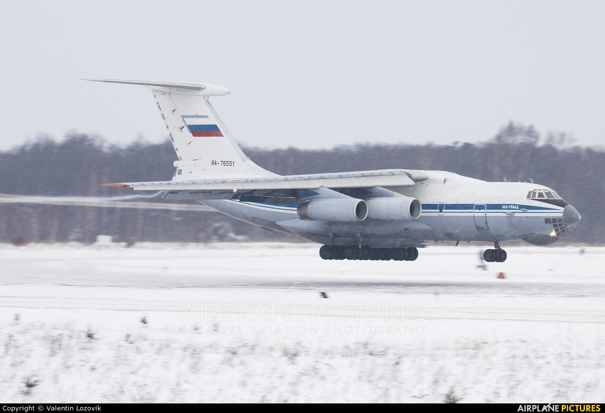 Russia - Air Force RA-76551 aircraft at Tver - Migalovo